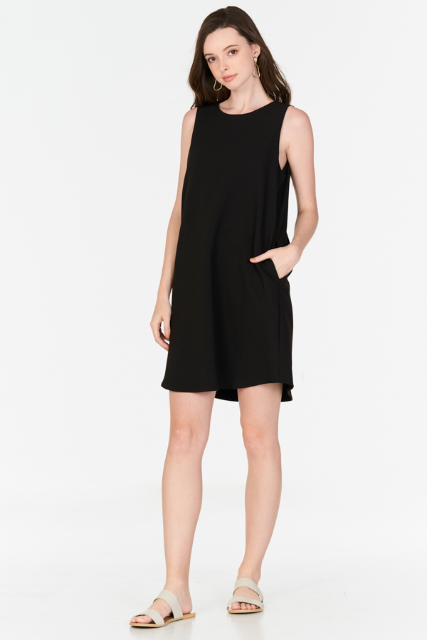 Parisa Two Way Dress in Black