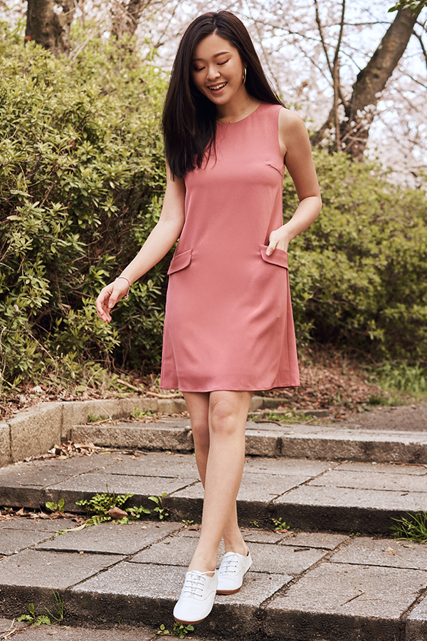 *Restock* Herlane Pocket Dress in Pink