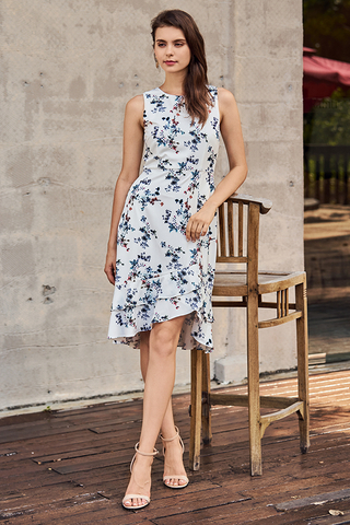 Jerrina Floral Printed Dress