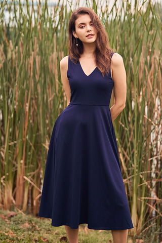 Seville Two Way Dress in Navy