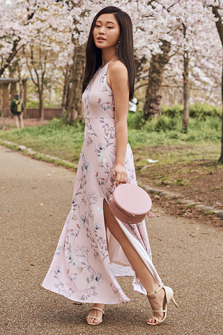 Ariela Floral Printed Maxi Dress