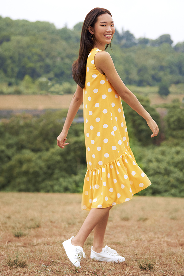 *Backorder* Rindley Polka Dotted Dropwaist Dress
