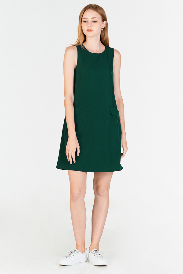*Pre-order* Herlane Pocket Dress in Forest