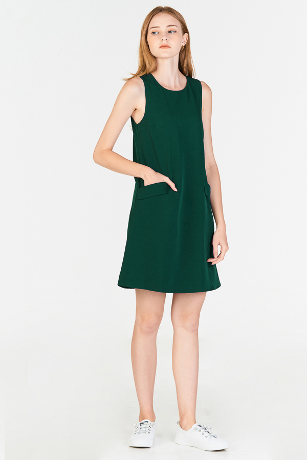 *Restock* Herlane Pocket Dress in Forest