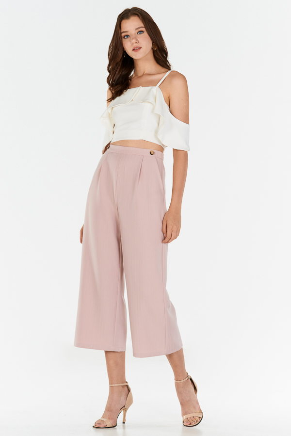 Corris Stripes Pants in Pink