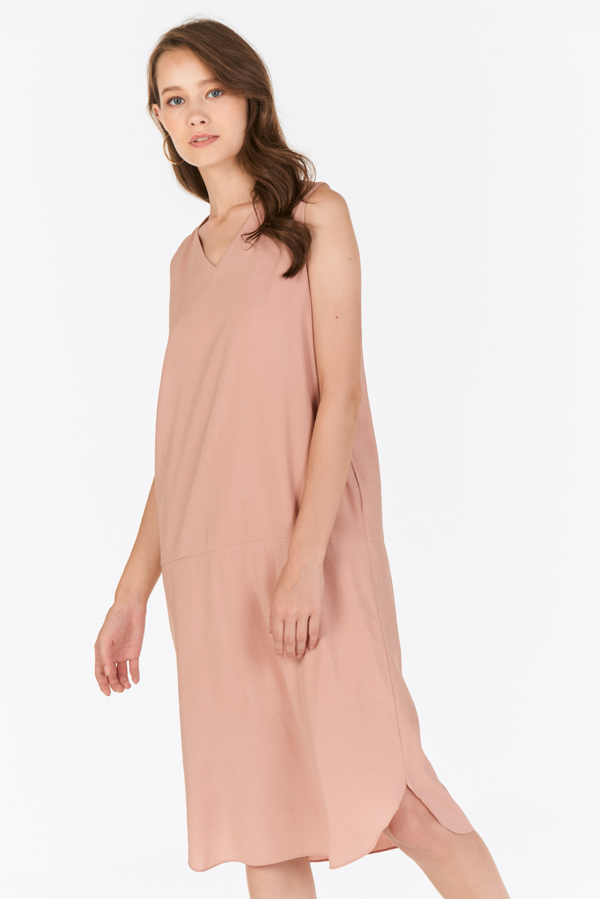 Wistora Two Way Midi Dress in Pink