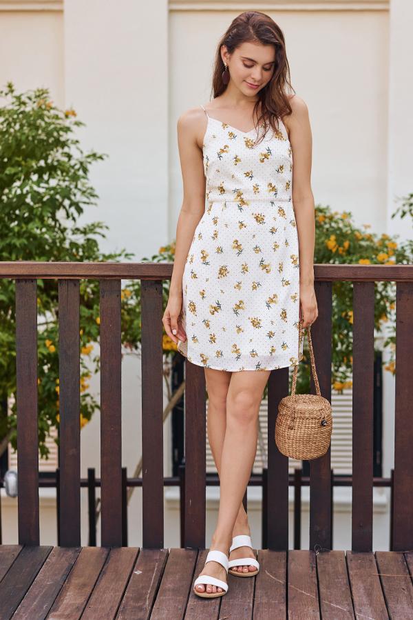Kendice Floral Dotted Dress