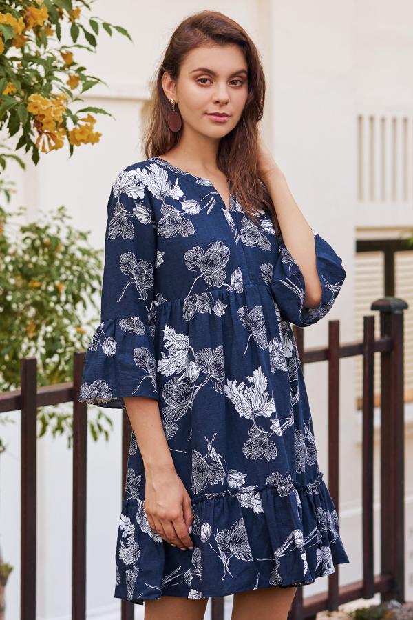 Alynda Floral Printed Dress