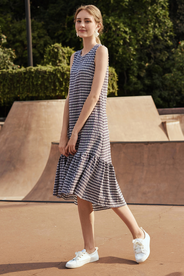 Colanda Gingham Dropwaist Dress