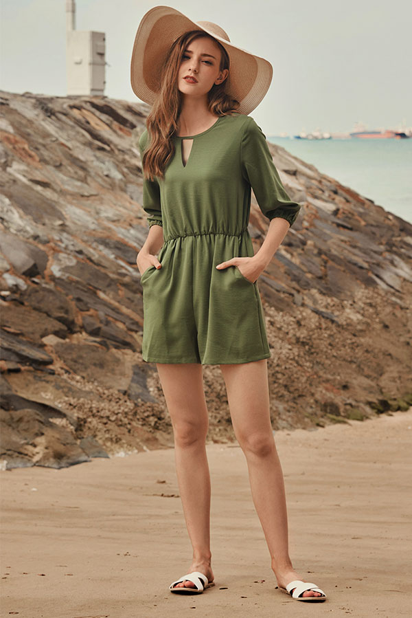 Collisa Romper in Olive