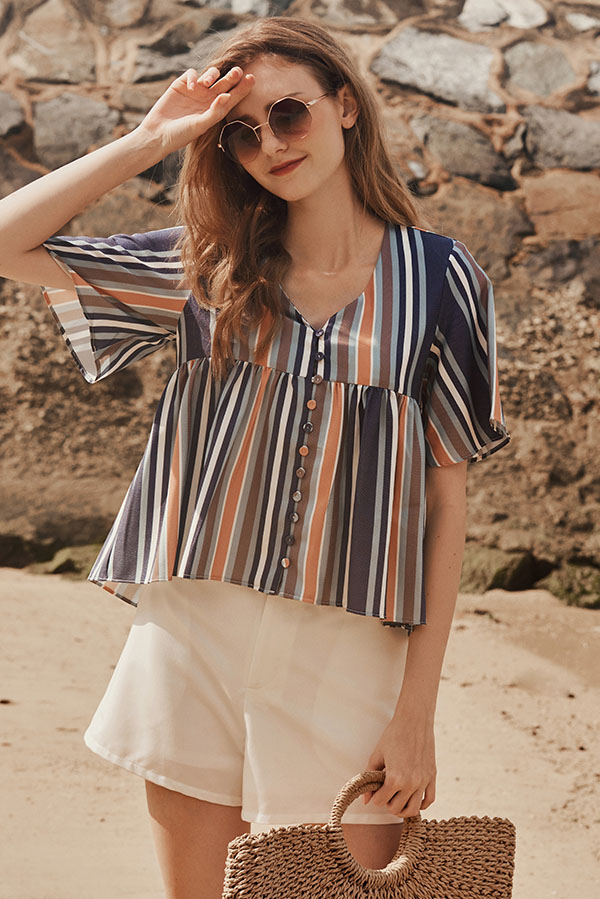 Estelle Striped Top