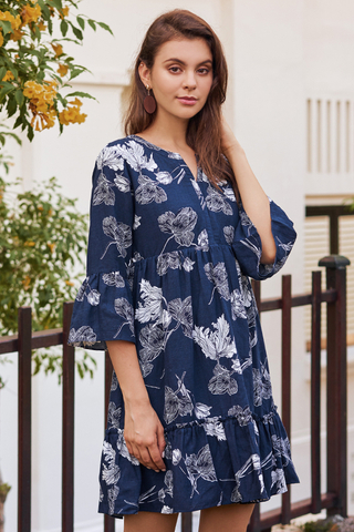 Alynda Floral Printed Dress