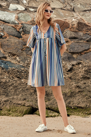 Estelle Striped Dress