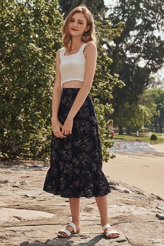 Sandele Floral Printed Midi Skirt
