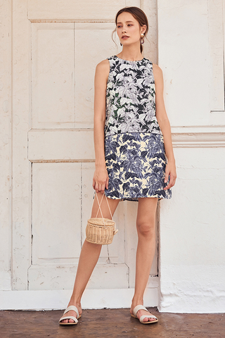 Relisa Foliage Printed Dress