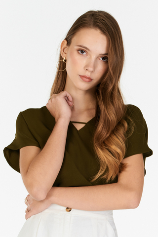 Syndi Top in Olive