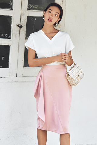 Florinna Ruffled Skirt in Pink