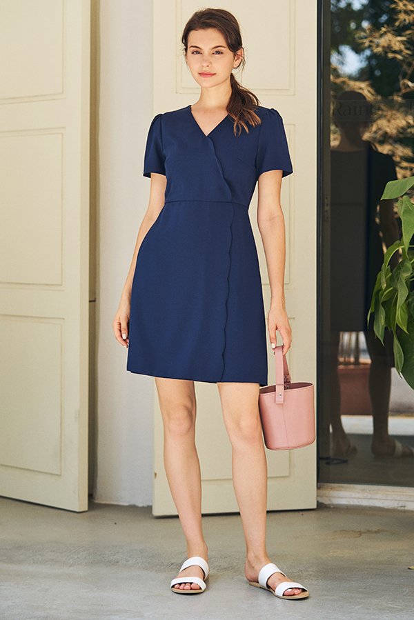 Serade Scallop Trim Dress