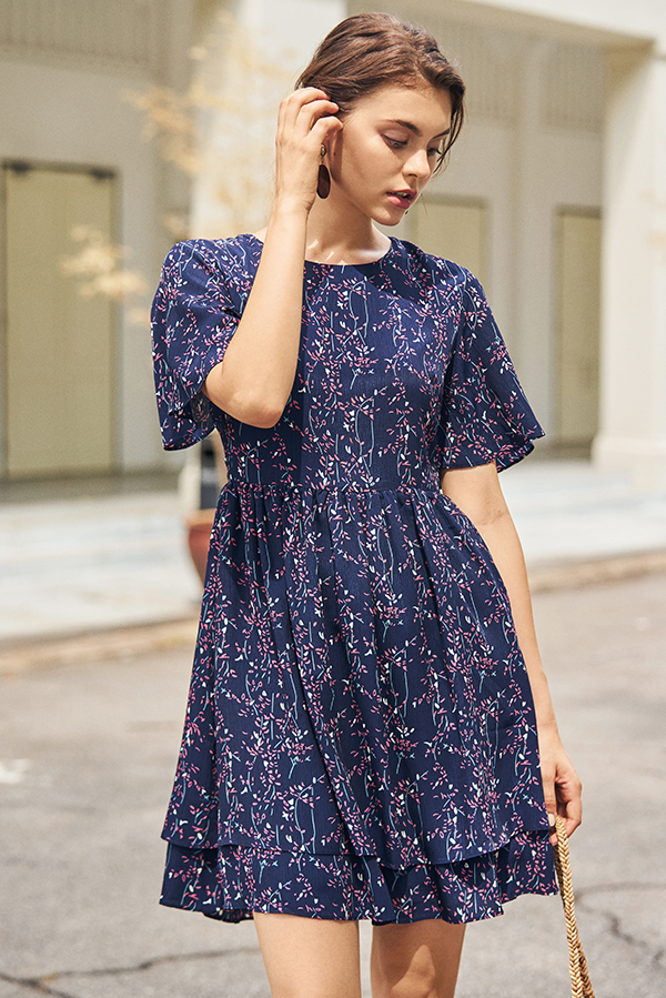 Nerisa Floral Printed Dress