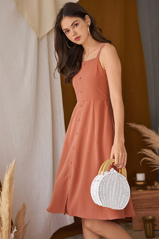 Sollina Buttoned Dress in Sierra