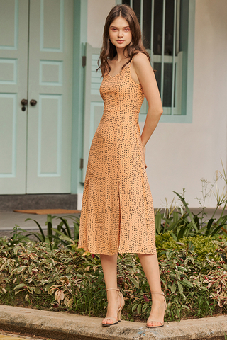 Norinn Dotted Midi Dress