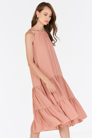Rowanda Midi Dress in Pink