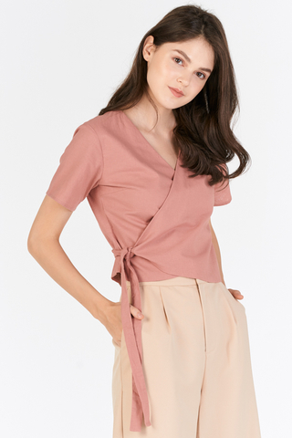 Loressa Wrap Top in Pink