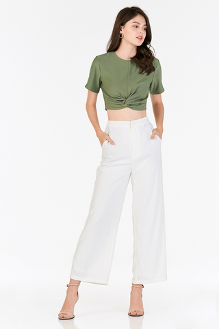 Malia Knotted Top in Sage