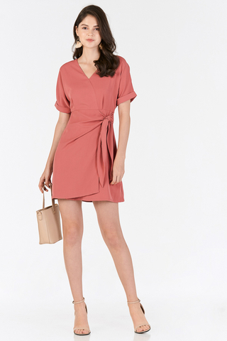 Rellena Knotted Dress in Sierra