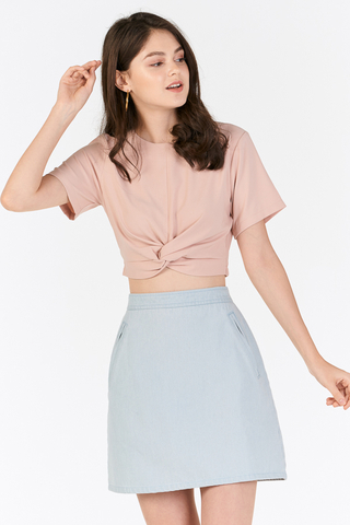 Malia Knotted Top in Pink
