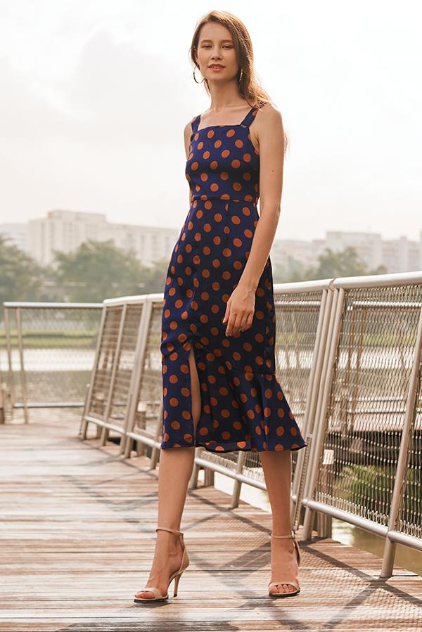 Colita Polka Dotted Midi Dress