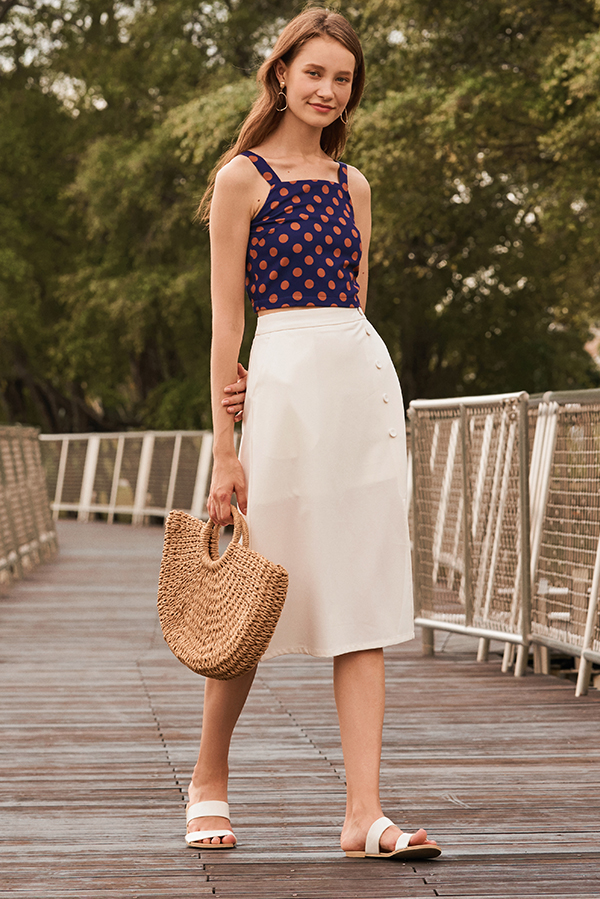 Sherita Buttoned Midi Skirt