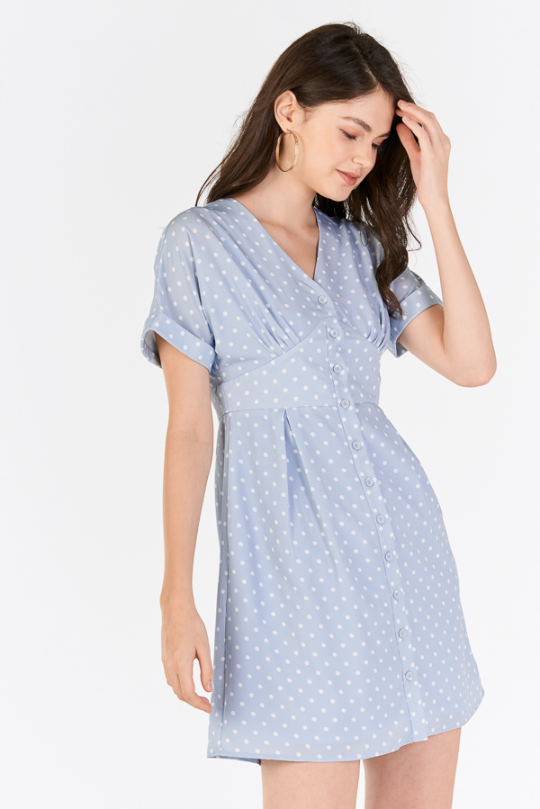Andereen Polka Dotted Dress in Powder Blue