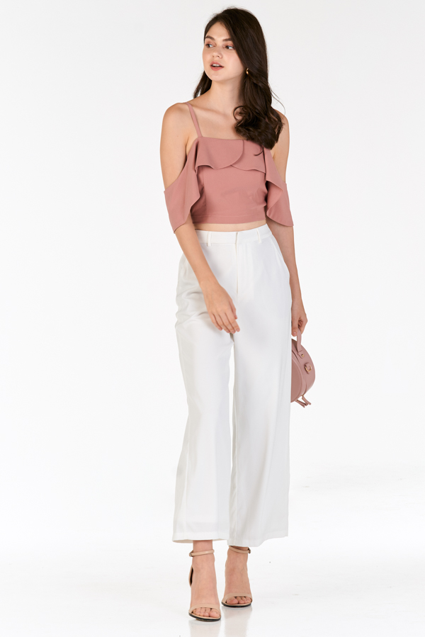 Hanna Ruffled Top in Blush