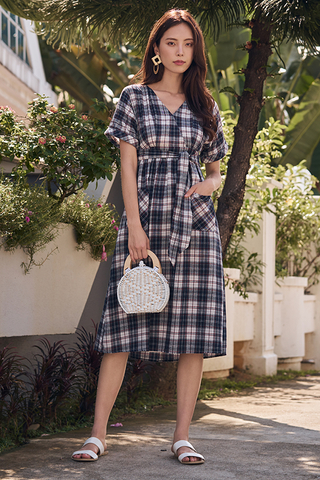 Coreen Plaids Midi Dress