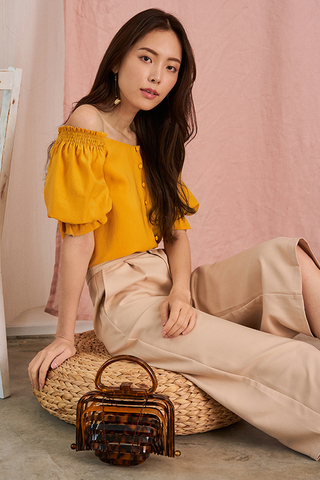 Danira Off Shoulder Top in Marigold