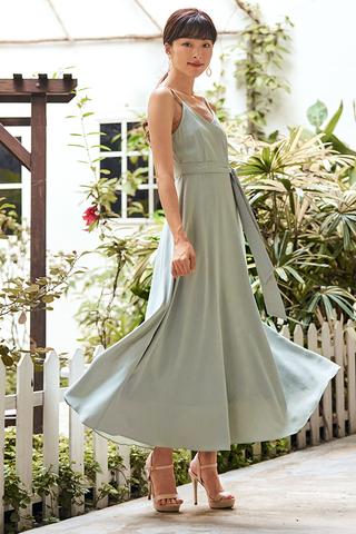 *Backorder* Gabriela Dress in Sage Green