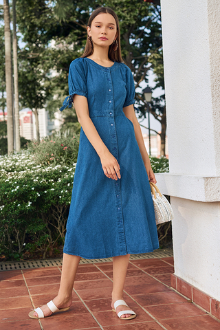 Delilia Denim Midi Dress