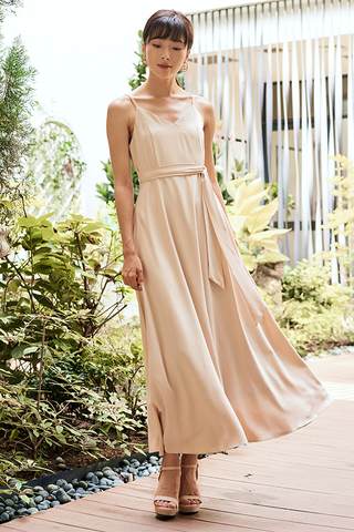 Gabriela Dress in Nude