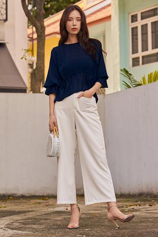 Raleena Pocket Pants in White