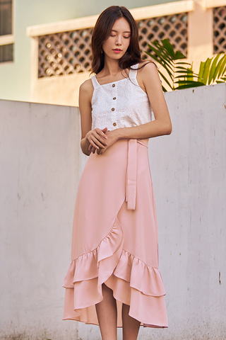 Alessia Midi Skirt in Pink