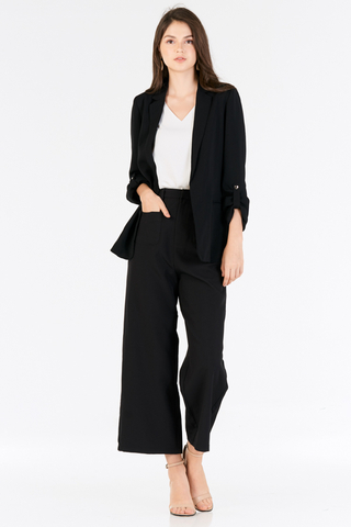 Raleena Pocket Pants in Black