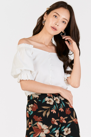 Danira Off Shoulder Top in White