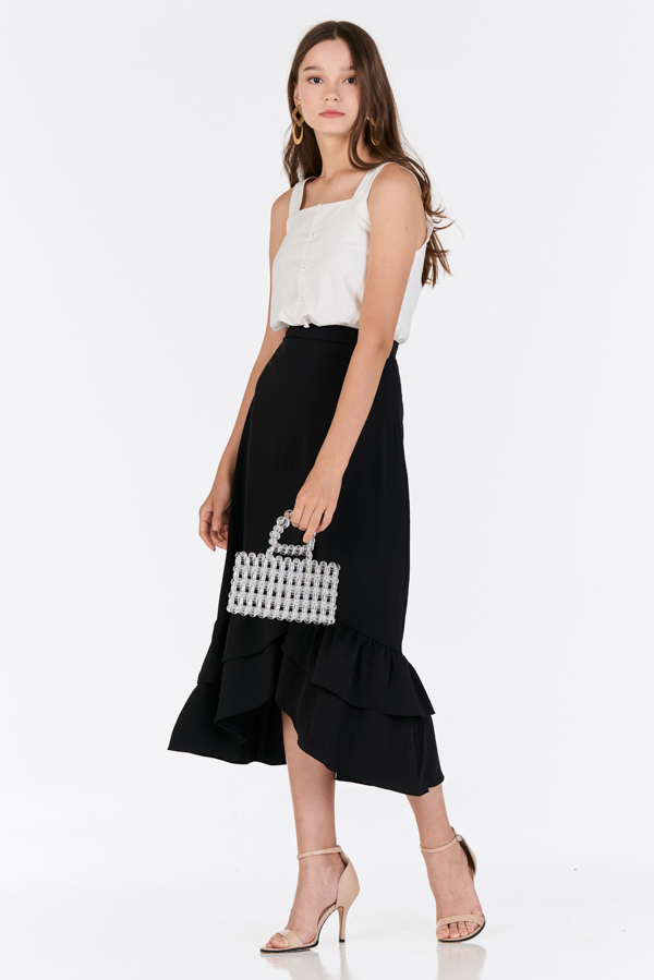 Alessia Midi Skirt in Black