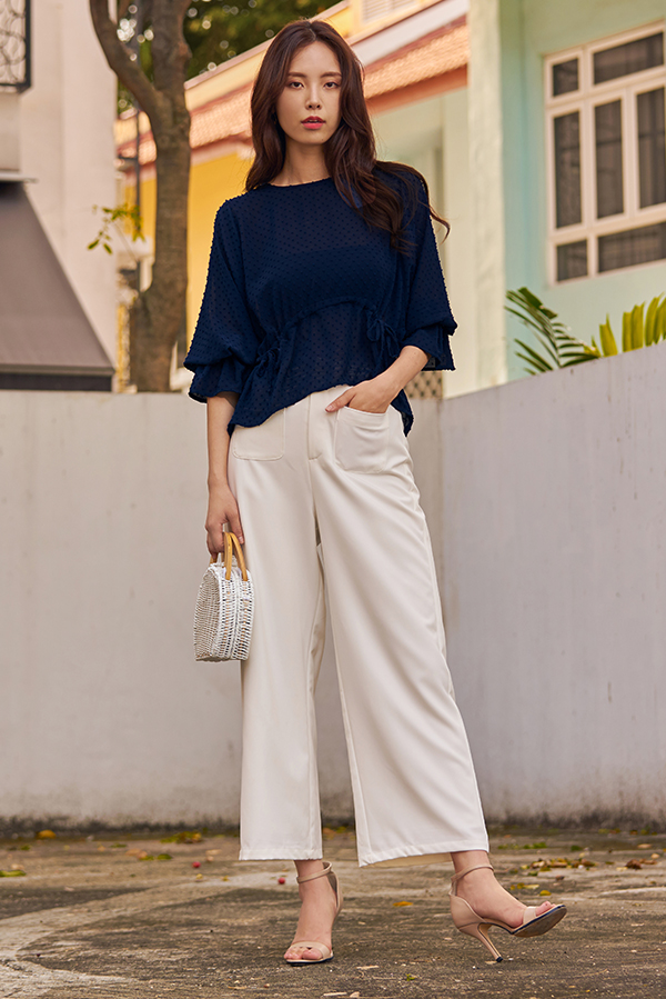 Raleena Pocket Pants in White