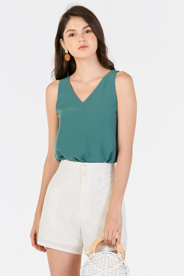 *Backorder* Annett Two Way Top in Seafoam