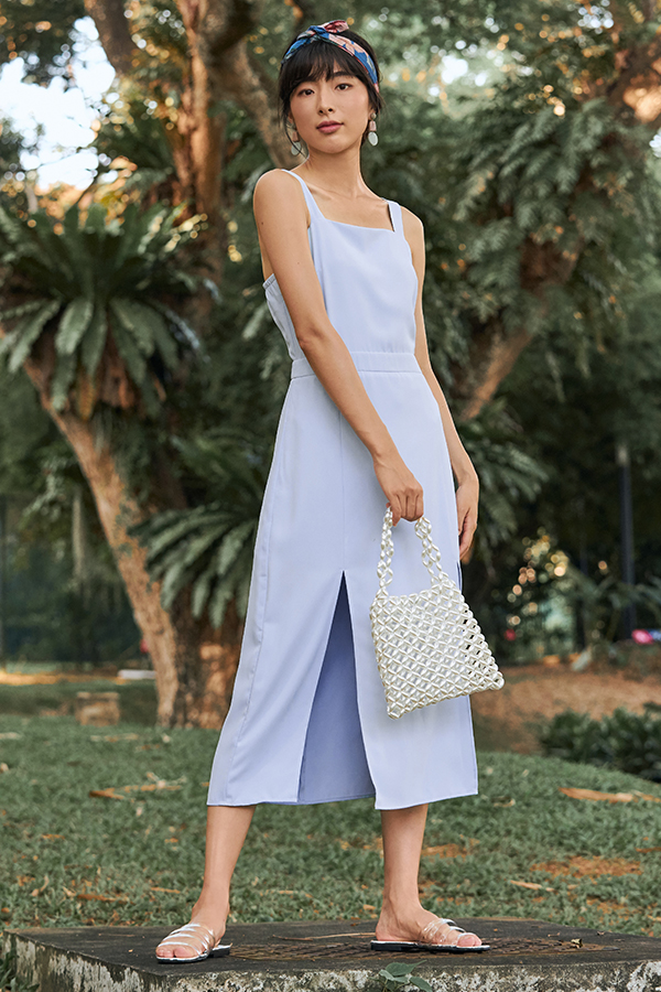 Jemina Midi Dress in Powder Blue
