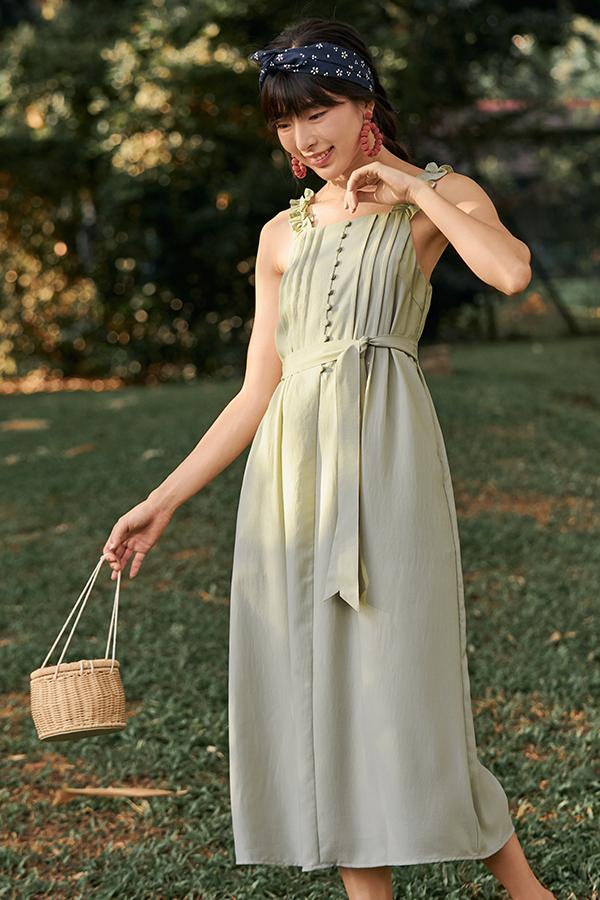Sofina Midi Dress in Sage Green
