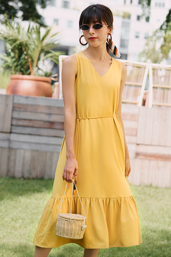 Julisa Two Way Midi Dress in Daffodil