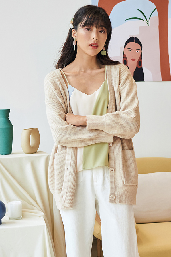 Brenna Knit Cardigan in Cream